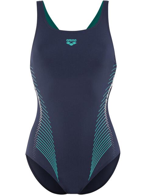 arena Fluids One Piece Swimsuit Women navy-persian green